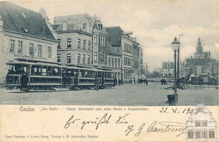 Die Emder Elektrische Kleinbahn am Delft