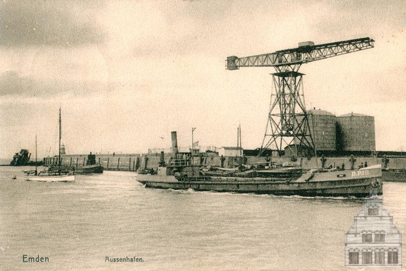 Emden Außenhafen, Westmole