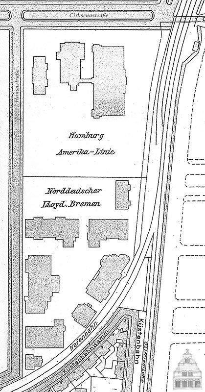 Stadtplan 1913, Hansastraße